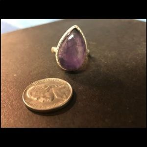 Amethyst and silver ring size 9